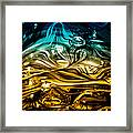 Glass Macro Abstract Rbwce Framed Print by David Patterson