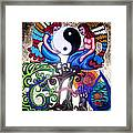 God And Gaia Framed Print by Genevieve Esson