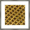 Gold Electron Micrograph Grid Framed Print by David M. Phillips