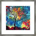 Greeting The Dawn By Madart Framed Print by Megan Duncanson