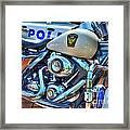 Harleys In Cincinnati 2 Framed Print by Mel Steinhauer