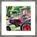 Hawk Hill Apple Tractor Framed Print by Scott Nelson