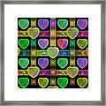Hearts Framed Print by Sandy Keeton