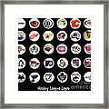 Hockey League Logos Bottle Caps Framed Print by Barbara Griffin