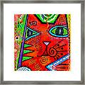 House Of Cats Series - Bops Framed Print by Moon Stumpp
