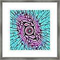 Ice Dragon Eye Framed Print by Anastasiya Malakhova