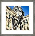 Illinois Police Officers Memorial In Springfield Framed Print by Paul Velgos