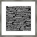 Intransit 20130625bw Framed Print by Wingsdomain Art and Photography