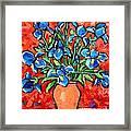 Iris Bouquet Framed Print by Ana Maria Edulescu