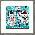 It's Snowtime Framed Print by Linda Woods