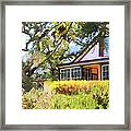Jack London Countryside Cottage And Garden 5d24570 Long Framed Print by Wingsdomain Art and Photography