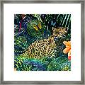 Jaguar Meadow Framed Print by Alixandra Mullins