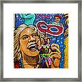 Jester Statue At The Fair Framed Print by Garry Gay