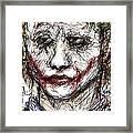 Joker - Interrogation Framed Print by Rachel Scott