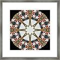 Kaleidoscope Wheel Framed Print by Cathy Lindsey