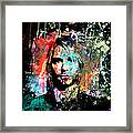Kurt Cobain Portrait Framed Print by Gary Grayson