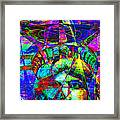 Liberty Head Abstract 20130618 Square Framed Print by Wingsdomain Art and Photography