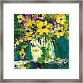 Little Daisies Framed Print by Sherry Harradence