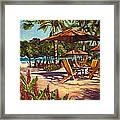 Lola's In Costa Rica Framed Print by Christie Michael