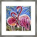 Love Flamingos  Framed Print by Yelena Rubin