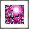 Magenta Morning Sakura Framed Print by Laura Iverson