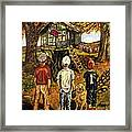 Meadow Haven Framed Print by Linda Simon