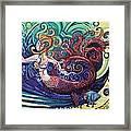 Mermaid Gargoyle Framed Print by Genevieve Esson