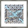 Meter Cover Framed Print by Tom Gowanlock