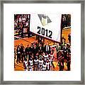Miami Heat Championship Banner Framed Print by J Anthony