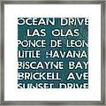 Miami Framed Print by Jaime Friedman