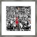 Michael Jordan Buzzer Beater Framed Print by Brian Reaves