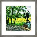 Mississippi Memorial Gettysburg Battleground Framed Print by Bob and Nadine Johnston