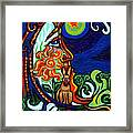 Moon In Tree Framed Print by Genevieve Esson