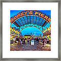 Moreys Piers In Wildwood Framed Print by Mark Miller