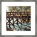 Morning At The Old North Bridge Framed Print by Rita Brown