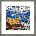 Mosaic Stained Glass - Dory  Framed Print by Catherine Van Der Woerd