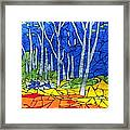 Mosaic Stained Glass - My Woods Framed Print by Catherine Van Der Woerd