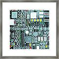 Motherboard Abstract 20130716 Square Framed Print by Wingsdomain Art and Photography