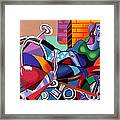 Motorcycle Mama Framed Print by Anthony Falbo