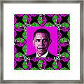 Obama Abstract Window 20130202m60 Framed Print by Wingsdomain Art and Photography