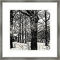 Old Barn Through The Trees Vintage Landscape Art Framed Print by Miss Dawn