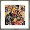 Our Lady Of Perpetual Help Icon Framed Print by Ryszard Sleczka