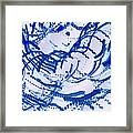 Particles Of Blue Framed Print by Kellice Swaggerty