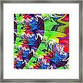 Peacock Framed Print by Chris Butler