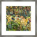 Pig Racing In Belturbet Ireland Framed Print by Jen Norton
