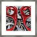 Recycled Love Framed Print by Andee Design