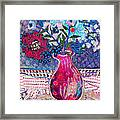 Red Vase IIi Framed Print by Diane Fine