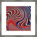 Red White And Blue Framed Print by Sarah Loft