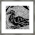 Roman Mosaic Bird Framed Print by Mair Hunt