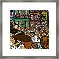 Running With The Bulls 1 Framed Print by Karen Elzinga